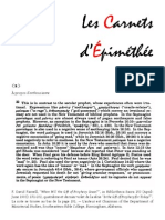 Les Carnets d'Épiméthée – Mai 2015