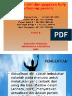 PPT Humanistik Aktualisasi Diri Dan Full Function Person Kel.6