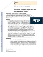 The Association of Restrained Eating With Weight Change Over Time in a Community-Based Sample of Twins