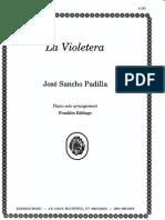 La Violetera - J. S. Padilla