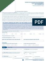 Business Visitor - VAF1C - Form