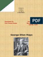 Contribution of Elton Mayo