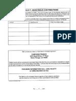 Campaign Finance Report
