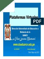 Plataforma Virtual UANCV 2012
