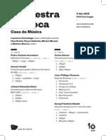 20150411 | Programa de Sala Orquestra Barroca Casa da Música | ESPLENDOR BARROCO
