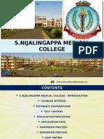 S.Nijalingappa Medical College