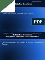 Clase 2 - Medidas de Posicion y Dispersion