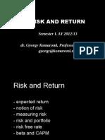 Presentation 04 - Risk and Return 2012.10.11