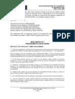 Reglamento disciplinario ANEIC Chile.