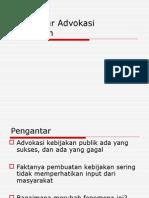 advokasi kebijakan