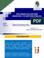 gestión de la planificación publica