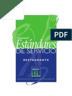 Manual de Estandares de Servicio - Restaurant