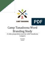 Camp Tanadoona Branding Study