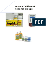Presence of Different Functional Groups