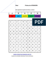 Coleccion Estimulacion Cognitiva NIVEL MEDIO Seguir Patron Colores 1 LETRAS 1