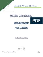 Metrado de Cargas - Vigas - Columnas Civilfree.com