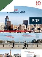 Cass Full Time Mba Prospectus