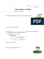 housing- renting vs  buying- student notes