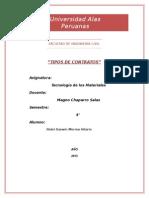 Universidad Alas Peruanas - Tecnologia de Los Materiales