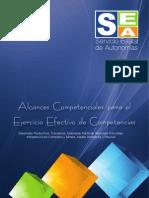 Alcances Competenciales para el Ejercicio Efectivo de Competencias Desarrollo Productivo, Comercio, Empresas Públicas, Recursos Naturales, Infraestructura Carretera y Férrea, Medio Ambiente y Tributos