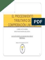EL PROCEDIMIENTO TRIBUTARIO DE CASIMIRO SANTOS ARRIBAS COMPROBACIÓN LIMITADA