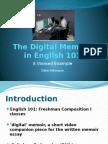 the digital memoir in english 101 - revised