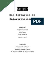Kunst- Ein Irrgarten an Interpretationen