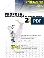 Proposal Kejurnas Karate Purwokerto 2016