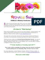 2015 Flower Sale FLYER & Order Form for Online Publication