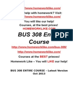 Bus 308 Entire Course – Latest Version Oct 2013