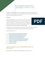 Establecer Una Contraseña Para Abrir o Modificar Un Documento