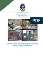 Advanced Adult Care Nursing Manual