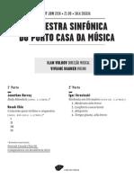 20140607 | Programa de Sala Orquestra Sinfónica do Porto Casa da Música | VIOLINO REINVENTADO