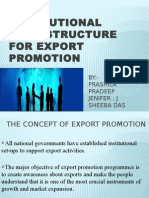 Institutional Infrastructure for Export Promotion