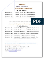 Annexure a - October 2014 Session - External Examination Schedule