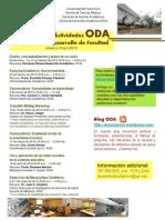Cartelera Actividades Oda Enero-mayo 2010