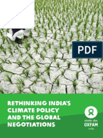 Rethinking India's Climate Policy and the Global Negotiations: