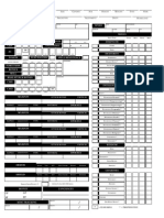 Custom Pathfinder Character Sheet