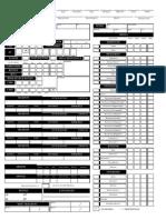 Custom Pathfinder Character Sheet