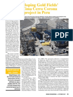 Developing Gold Fields' La Cima Cerro Corona Project in Peru