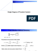 Single Degree of Freedom System