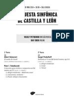 20140503 | Programa de Sala Orquesta Sinfónica de Castilla y León | CONCERTO PARA VIOLINO DE TCHAIKOVSKI