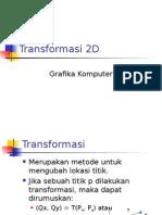Pertemuan 3 Transformasi 2D