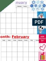 generic calendar