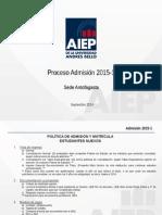 Proceso Admisión 2015_1