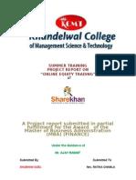 Sharekhan Project Report