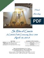 St.Rita Parish Bulletin 4/19/2015