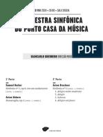 20140510 | Programa de Sala Orquestra Sinfónica do Porto Casa da Música | PRIMEIRAS OBRAS