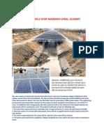 Solar Panels Atop Narmada Canal