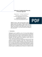 Classification of Authentication Protocols